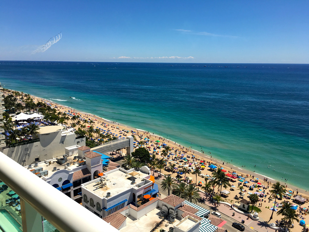 27 Fort Lauderdale Air Show From Dr. Ferdandes & Sandy's Beach Condo May 2016