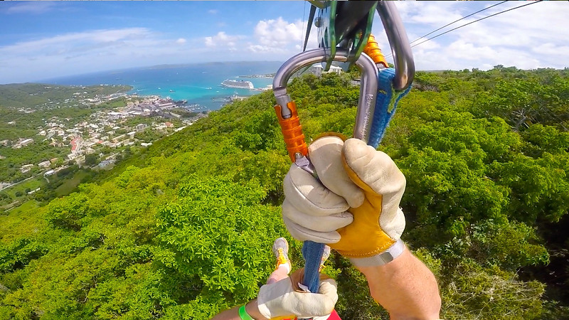 Russell Zip Lining On Tortola, BVI May 2016