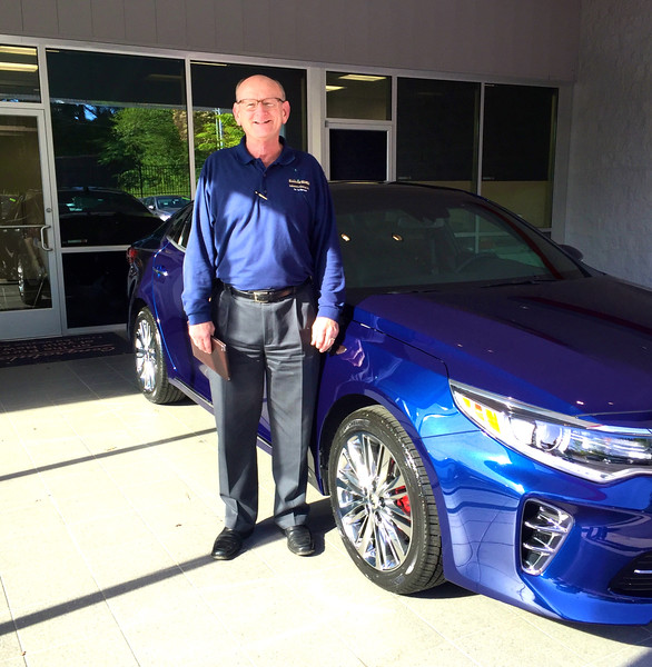 Russell Bellmor Taking Delivery of His 2016 Kia Optima SX Limited 4-18-16
