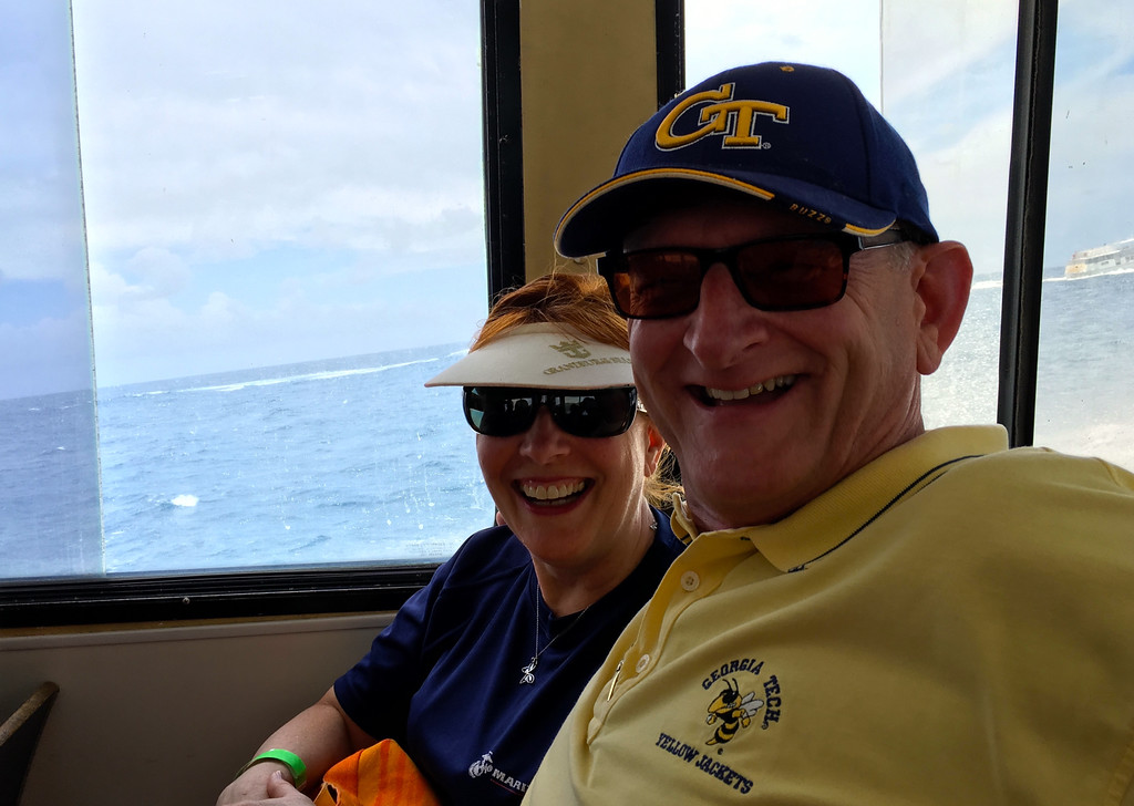 Ann & Russell On Launch To Tortola BVI Allure Of The Seas May 2016
