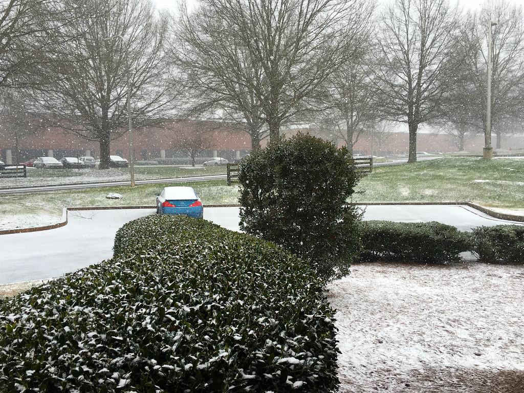 Snowfall 2-09-2016 Alpharetta, GA