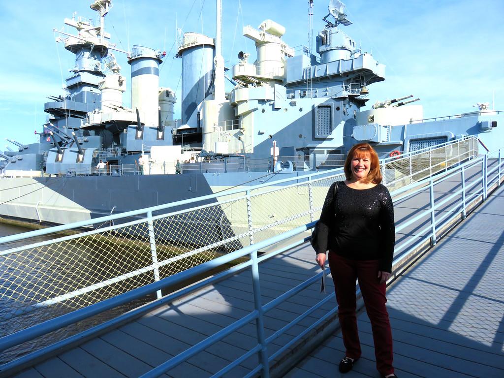 Ann Bellmor Aboard The North Carolina Battleship Wilmington NC March 2016