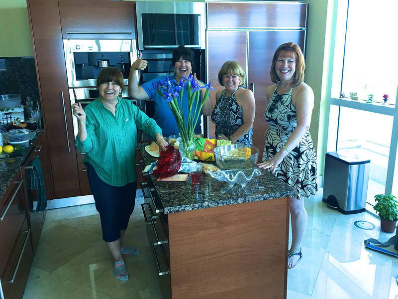 13 Sandy Ferdandes, Becky Snyder & Ann Bellmor Dr. Ferdandes & Sandy's Condo At Fort Lauderdale Air Show May 2016