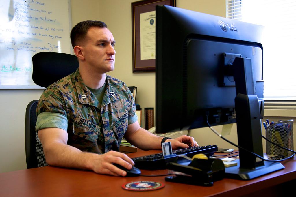 Captain Morgan Bellmor USMC Office Photo March 2016 01
