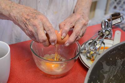 Adding 9 Eggs - Stage 2 / Day 2 - 2016 Christmas Pudding