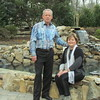Doug and Linda Gould and their new pond, Mooresville, NC, 2/20/2016