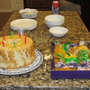 Angel food cake Shirley made and King Cake that is part of Mardi Gras that Crystal brought for Chad and Crystal's birthday celebration, Clearwater, FL, 2/7/2016