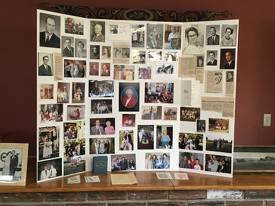 Memories board created for the Robinson & cousins reunion  (they said it was a 2 bottles of wine project!)