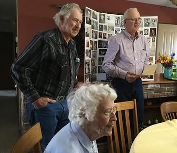 Buck Robinson, Elizabeth Robinson Hill and Steve Robinson