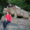 Maria and Vini's Obligatory Nittany Lion Photo