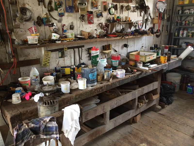 Workshop in the Shop built by Franz Kotz in the late 1850s, still sporting his original workbench.