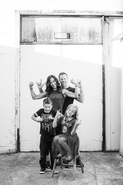 this family rocked it at our last fam shoot. #rockstars #rockers #familyportrait #themed #thecocogallery #holidayportraits #photoglife