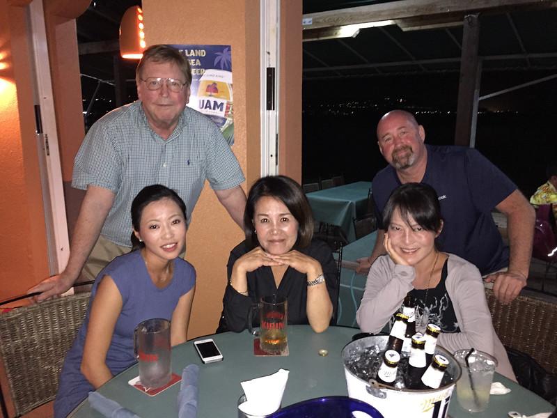 Masako, Jim, Hiroko, Mike Stokes, Su Jin