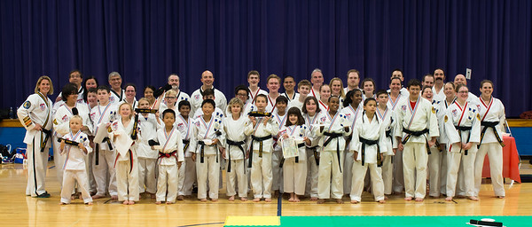 All the students with their new rank.