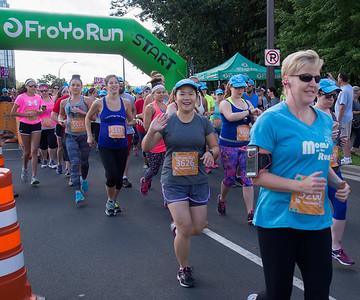 At the start, 5K run at Lake Normandale