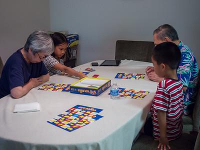 Playing Geobingo with Nainai and Yeye