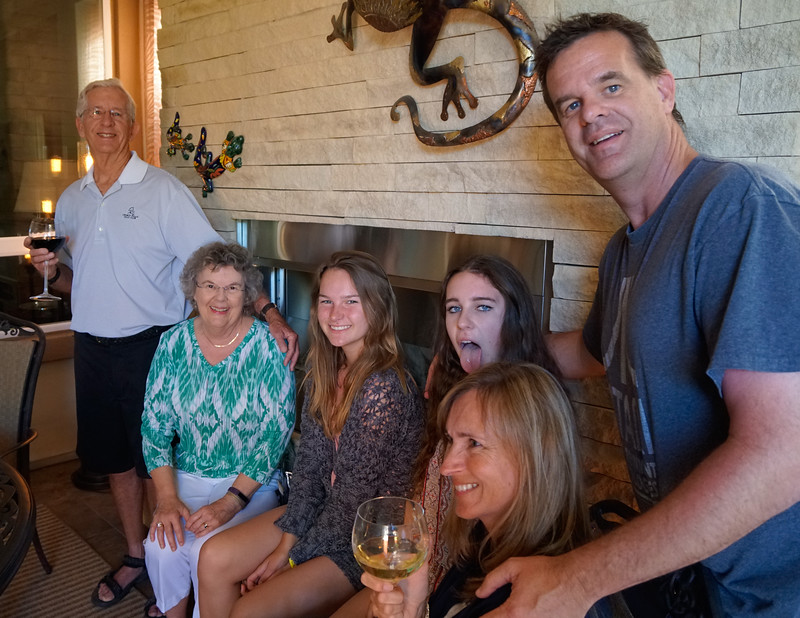 Family at the Dines in Indio, CA