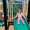 Edy sliding down the slide in 2017, where Bri slid down in 2014.  What the what?