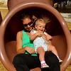 Amy & Bri enjoying the tunnel slide in 2014