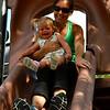 Amy & Bri on the BIG slide 2014
