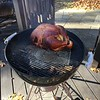 The bird had been brined overnight - here we are at the start of the process