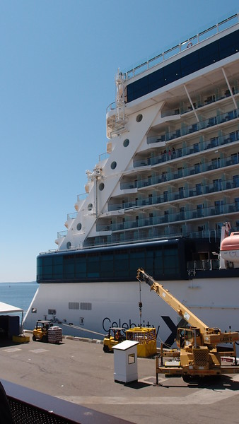 This is our ship - Celebrity Solstice. Max capacity of 2800 passengers.