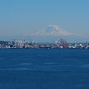Mount Rainier in the back.  Amazing sight.