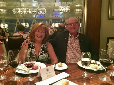 Ann & Russell Bellmor Chef's Table Dinner Allure of The Seas Cruise May 2017