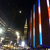 Barbara and I visited NYC shortly before Christmas -  Moon over the Empire State and Madison Square Garden