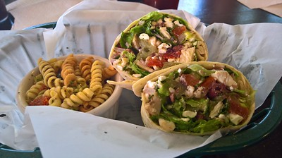 Greek wrap at 16th Street Diner and Deli, Canon City