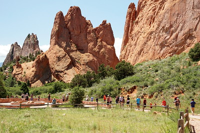 Hikers on the trail at Garden of the Gods, Colorado Springs