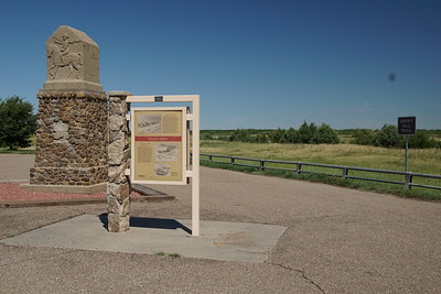 Trails monument west of Cheyenne Wells