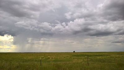 Rain shower near Kit Carson, CO
