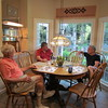 Frank, Ken and Doug Gould at Doug's home, Mooresville, NC, 7/14/2017