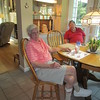 Frank and Ken Gould at Doug's home, Mooresville, NC, 7/14/2017