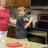 Spencer making ice cream, 7/31/2017