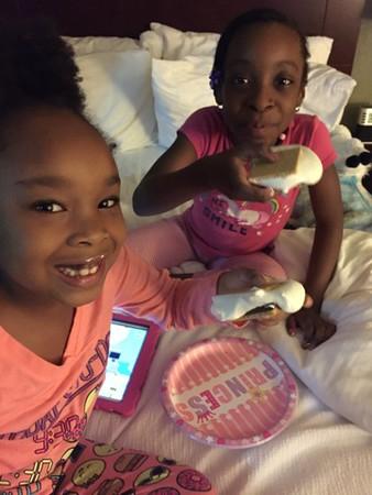 Alexis and Jayla Hotel Sleepover