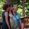 Bride Ericka flanked by her mom and grandma