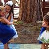 Little bridesmaids dancing