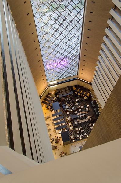 View of Hyatt interior from floor 25