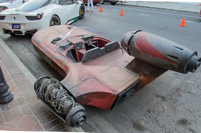 Replica of Luke Skywalker's  Landspeeder - at Ferrari rally