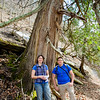 Amy Highland, Wes Knapp with old growth Thuja occidentalis
