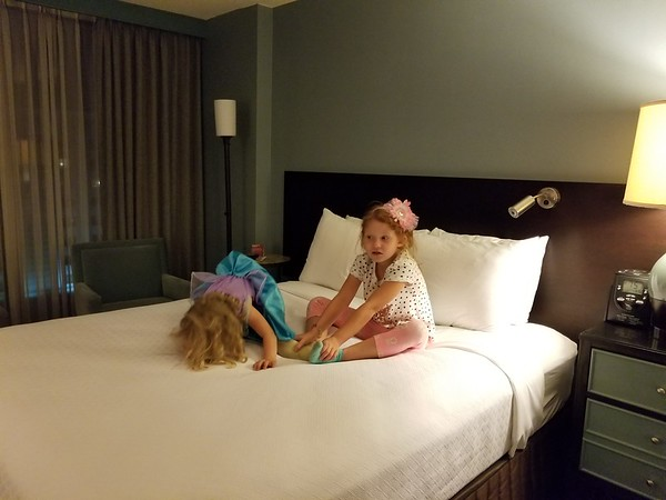 Girls and I stayed at Crowne Plaza near O'Hare for an early flight in the morning