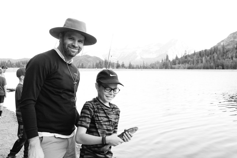 Nate was so proud of catching his first fish!