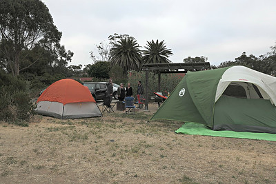 Karen and Pierce Camping