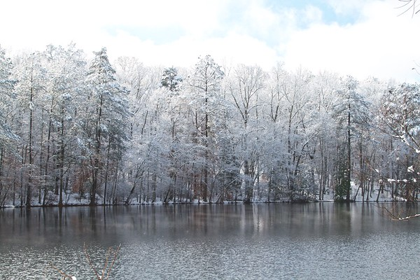 Sibley Pond in the Snow