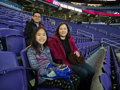 Jin Hua, Lindsay, and Jianping at US Bank Stadium