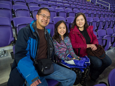 I-Liang, Lindsay, Jianping at US Bank Stadium