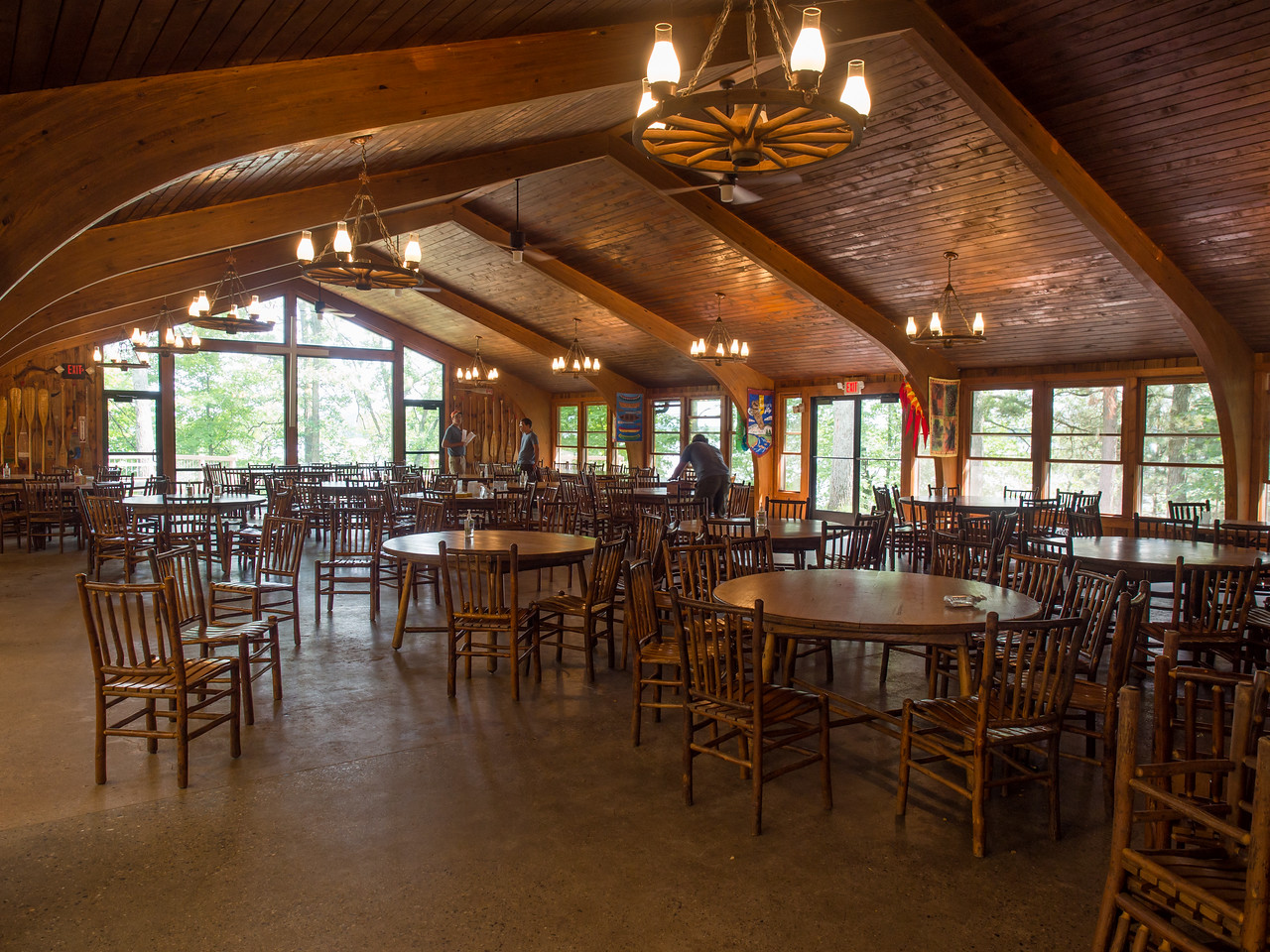 Dining hall, Camp Olson