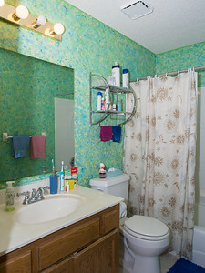 Upstairs bathroom: before